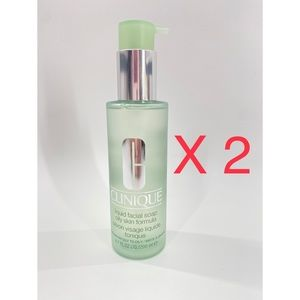 Lot of 2 Clinique Liquid Facial Soap W Pump
